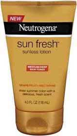 Cheapest Neutrogena Sun Fresh Lotion Medium/Deep 4 fl oz (118 ml) by Neutrogena - Free Shipping Available