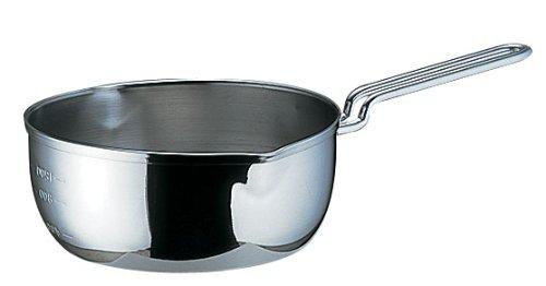 SA 18-10 共柄三層鋼 雪平鍋 目盛付 18cm AYK52018