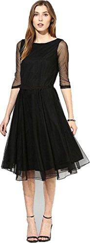 Shreebalaji-Enterprise-Womens-Georgette-Princess-Cut-Dress-WERNBLACK01BlackFree-Size