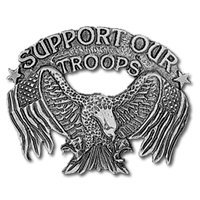 Hot Leathers Support Our Troops Pin