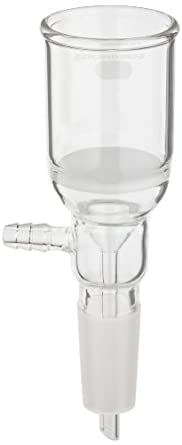 Chemglass CG-1406-08 Glass Buchner Filtering Funnel with Medium Frit, 60mL Capacity, 24/40 Lower Vacuum Assembly