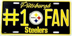 Pittsburgh Steelers No.1 Fan License Plate - 2310M by Smart Blonde