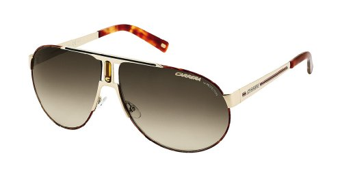 Carrera Panamerika 1/S Sunglasses Shiny Light Gold / Havana / Brown Gradient