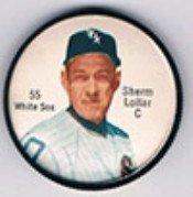 1962 Salada Tea Coins (Baseball) Card# 55 Sherm Lollar Of The Chicago White Sox Vgx Condition