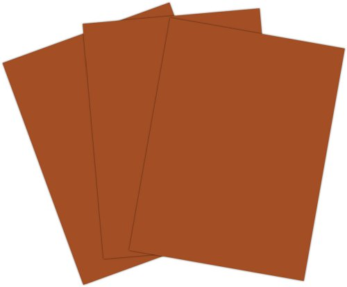 Roselle 9x12 Vibrant Construction Paper, 50 count, Brown (CON3191250) - 1