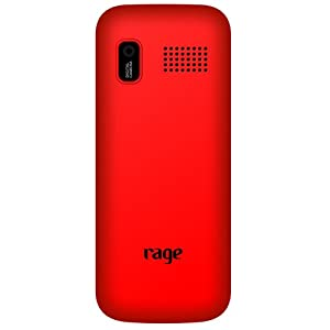 Rage Yo C Dual Sim(GSM+GSm) Loudspeaker Mobile with Auto call Recorder Red+Black(No Charger No Handsfree)