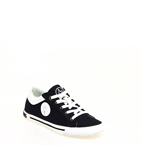 ARMANI JEANS - Sneakers in tela con dettagli in pelle . Fondo in gomma 238012 BLU n.36