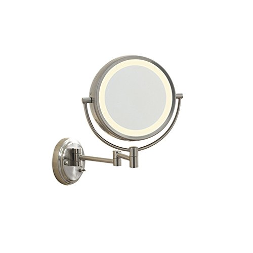 Conair Lighted 7X Brushed Nickel Wall Mount Fluorescent Hotel Makeup Mirror (Conair Natural Daylight Mirror compare prices)