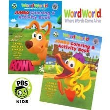 WordWorld Jumbo Coloring and Activity Book Set (2 Coloring Books)