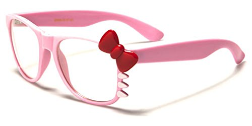 Hello-Kitty-Bow-Womens-Fashion-Clear-Lens-Glasses-with-Bow-and-Whiskers