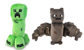 Mojang Minecraft Creeper and Bat Plush Set, 8 Inches by Mojang