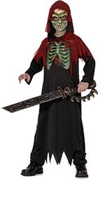 Hologram Skeleton Pirate Childrens Halloween Costume