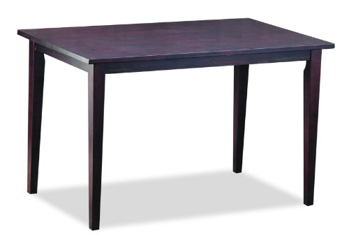 Baxton Studio Polly Dark Brown Wood Modern Dining Table