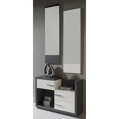 3-tlg. Garderoben-Set Farbe: Esche / Weiß