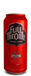 8 Pack - Full Throttle Energy Drink - Red Berry - 16oz.