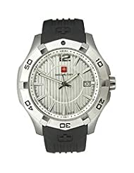 Swiss Military Calibre Men's 06-4I1-04-001 Immersion White Dial Black Rubber Watch
