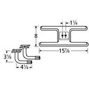Music city metals 10502 73112 stainless steel burner replacement for select kenmore - Kenmore outdoor gas grill parts ...