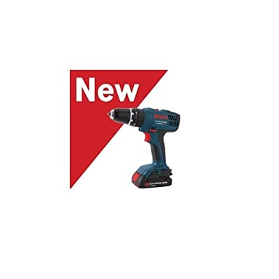 Bosch HDB180-02 18V Compact Lithium Ion Hammer Drill with 2 Slim Pack Batteries,