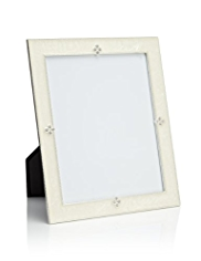 Diamanté White Enamel Decorative Photo Frame 20 x 25cm (8 x 10