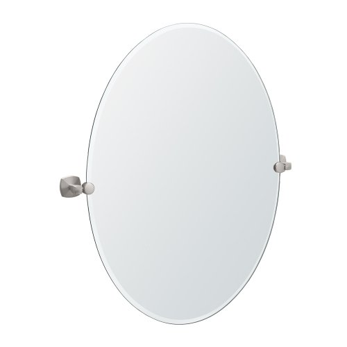 Gatco 4159Lg Jewel Large Oval Mirror, Satin Nickel front-265000