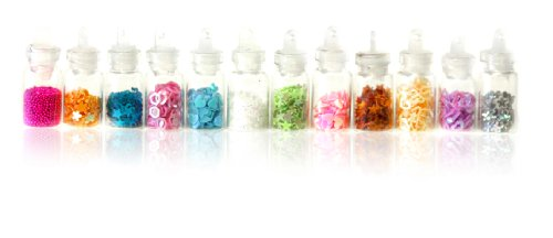 SHANY Nail Decals - 3D Art Nail decoration 12 Mini bottles