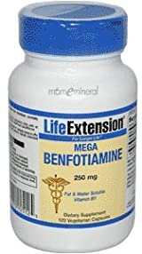 Mega Benefotiamine 250mg 120 vcaps by Life Extension