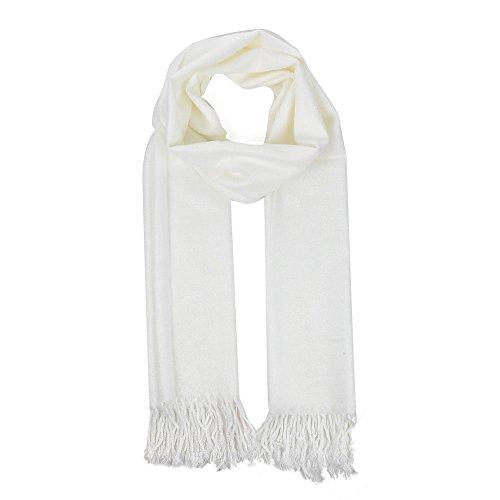 para-mujer-invierno-borla-bufanda-casual-solido-shawl-senoras-blanco-blanco