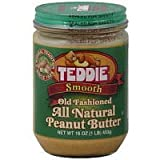 Teddie Smooth Old Fashioned All Natural Peanut Butter-16 Ounce Jar