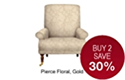 Grove Armchair - Gold Effect Feet
