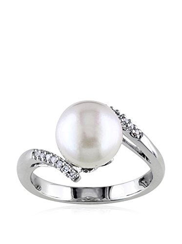 Michiko 14K White Gold, Diamond & 9-9.5 mm White South Sea Pearl Ring