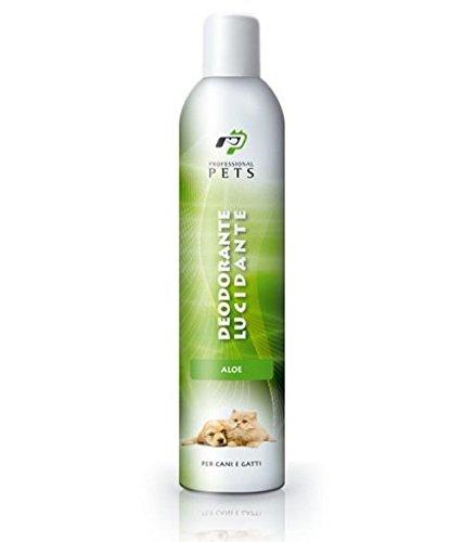 Professional Pets Deodorante Lucidante al Aloe 400 ml - Deodora e lucida il manto combattendo i cattivi odori, spray per cani e gatti in più profumazioni