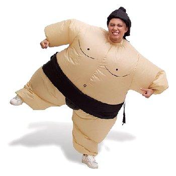 Selbstaufblasendes Kostüm -  Fatsuit Sumo Ringer -  Fasching Karneval bei aufblasbar.de