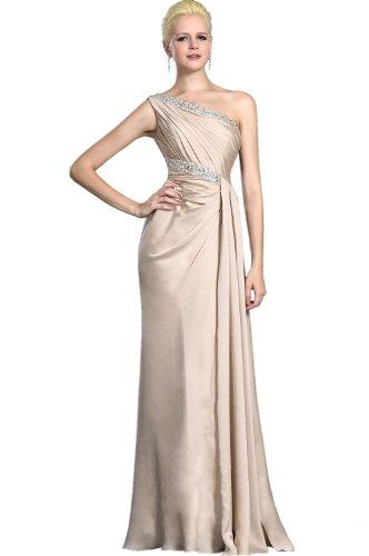eDressit elegante robe de soiree mariee longue beige Bretelle unique buste plisse 00126014 T.46