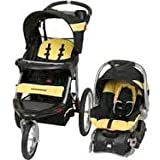 Baby Trend Expedition Jogger and Baby Trend Infant Car Seat Flex Loc travel system in LEMON DROP