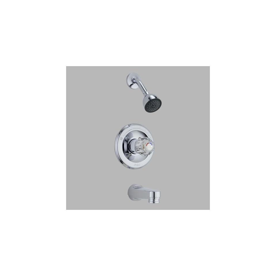 Delta Faucet T13422 PD Classic MonitorR 13 Series Tub and Shower Trim, Chrome   Faucet Trim Kits
