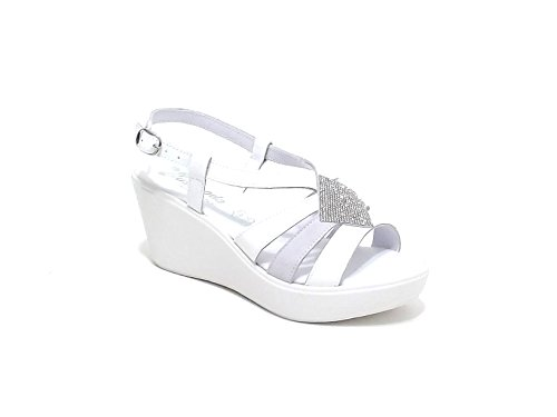 Susimoda scarpa donna, modello sandalo 256240, in camoscio, colore bianco