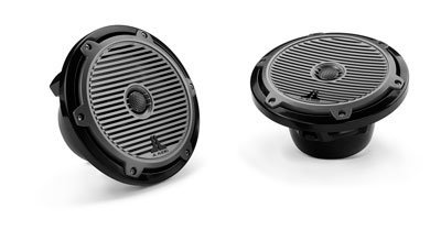 "M770-Tcx-Cg-Tb - Jl Audio 7"" Tower Marine Coaxial Speakers Black With Classic Grills"