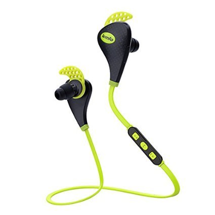 LEMFO Wireless Bluetooth V4.1 Earbuds Noise Cancelling Sports Running Gym Exercise Sweatproof Earphones