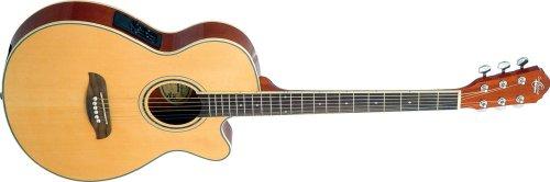 Oscar Schmidt Og8Ce Folk-Size Cutaway Acoustic-Electric Guitar - Natural