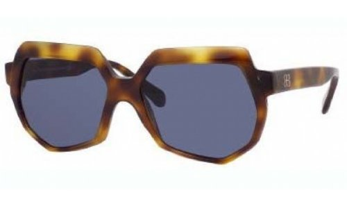 Balenciaga Balenciaga Women's 0105 Tortoise Frame/Blue Lens Plastic Sunglasses
