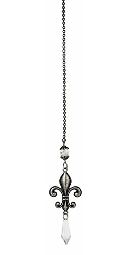 Silver Colored Fleur-de-lis Ceiling Fan Pull - By Ganz (Fleur De Lis Fan Pull compare prices)