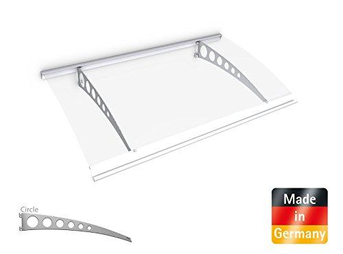 schulte vordach polycarbonat edelstahl pultvordach circle edelstahl v2a 160x90 cm. Black Bedroom Furniture Sets. Home Design Ideas