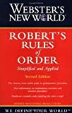 img - for Webster's New World Robert's Rules of Order 2nd (second) edition Text Only book / textbook / text book