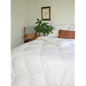 Soft &#038; Luxurious Sateen Down 310-Thread Count Alternative Queen Duvet Insert, White
