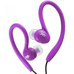 JVC HA-EBX85-V Sports In Ear Clip Headphones Violet