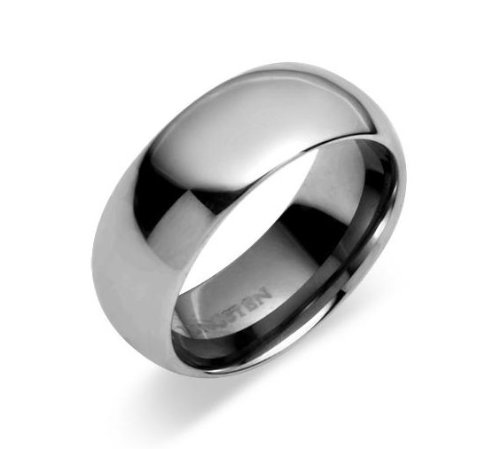 8mm Carbide Tungsten Wedding band or Promise Ring - Sz 10