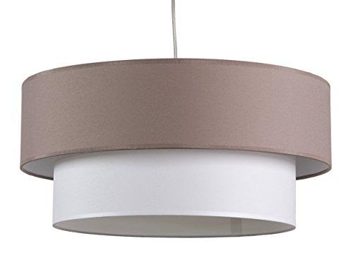 maison-de-lune-42288-lampara-techo-doble-pantalla-textura-color-marron-y-blanco