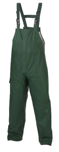 Coleman Pu/Tricot Waterproof Bib Pants, Forest Green, Large front-857969