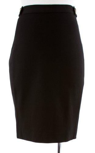Diane von Furstenberg Black 'Acmis' Stretch Knit Panel Pencil Skirt 14 Image
