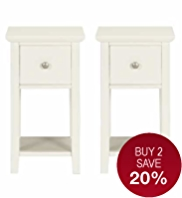 Hastings Ivory Compact Bedside Chests